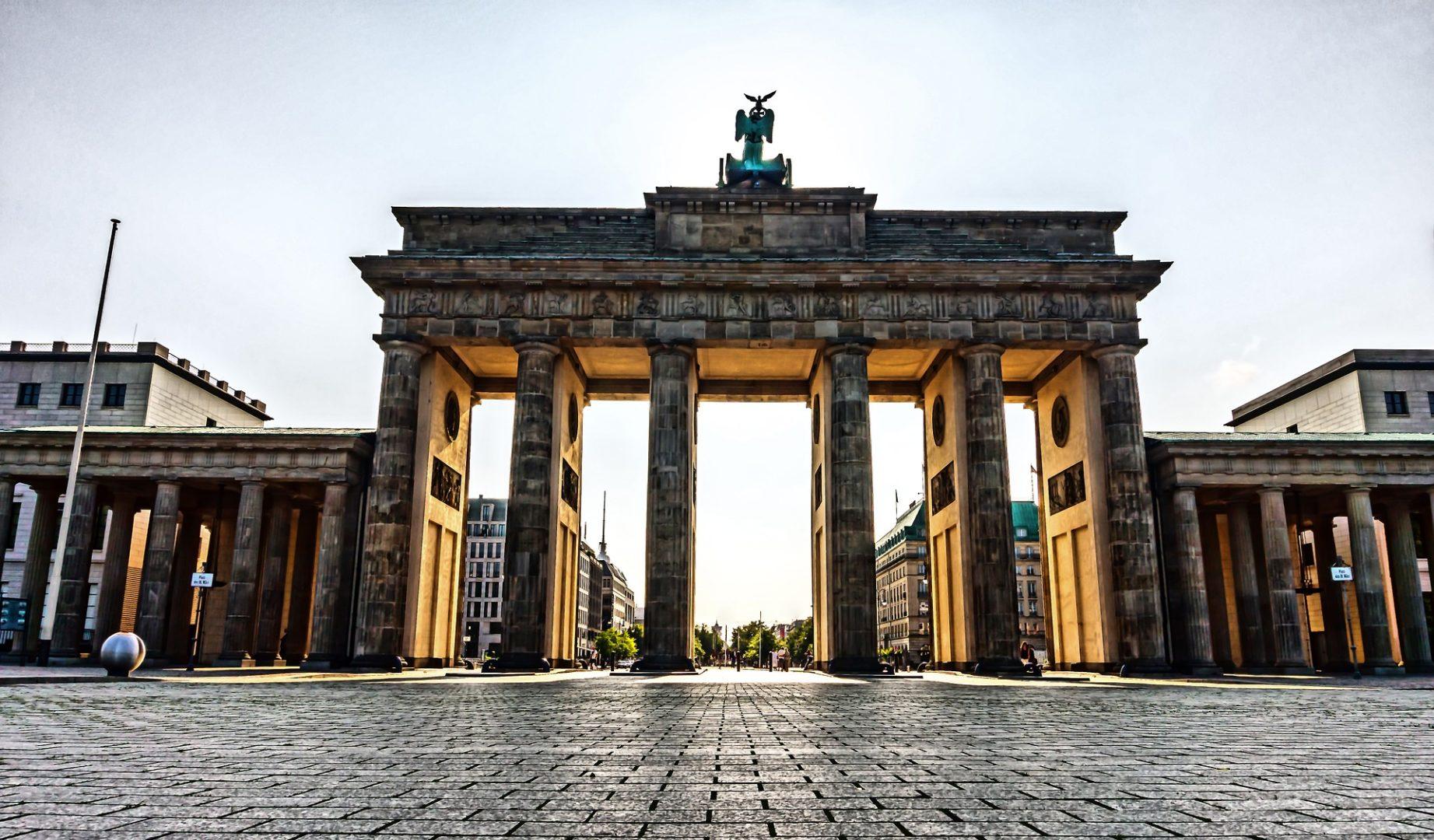 Blick auf das Brandenburger Tor Berlin