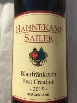 Blaufränkisch Weingut Hahnekamp-Sailer
