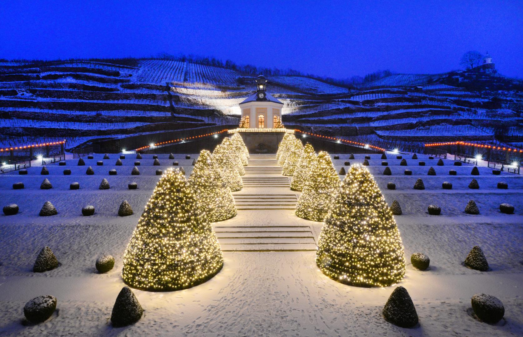 Schloss Wackerbarth zur Weihnachtszeit Belvedere