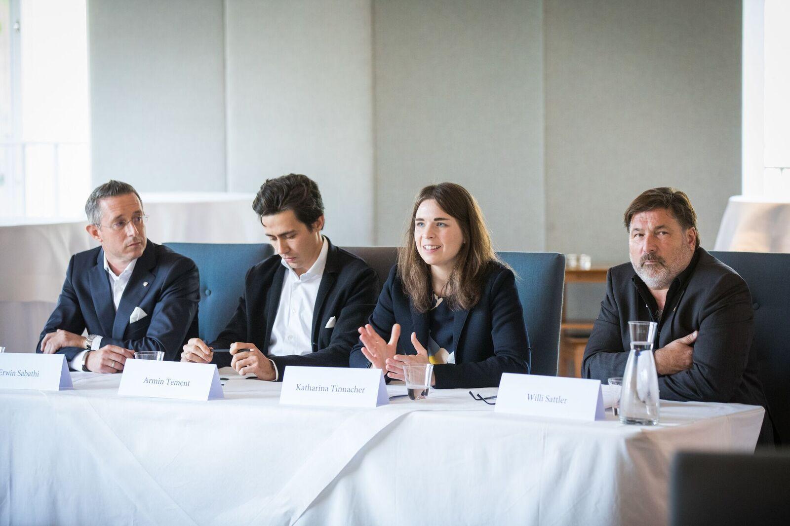 Katharina Tinnacher auf der Pressekonferenz am 6. November 2018 in Wien