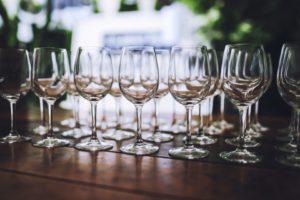 Saubere Weingläser