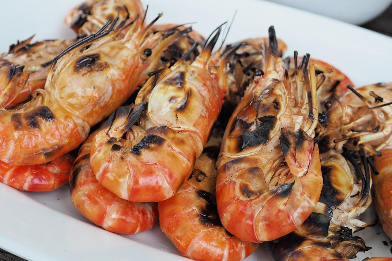 Meeresfruechte Shrimps Garnelen