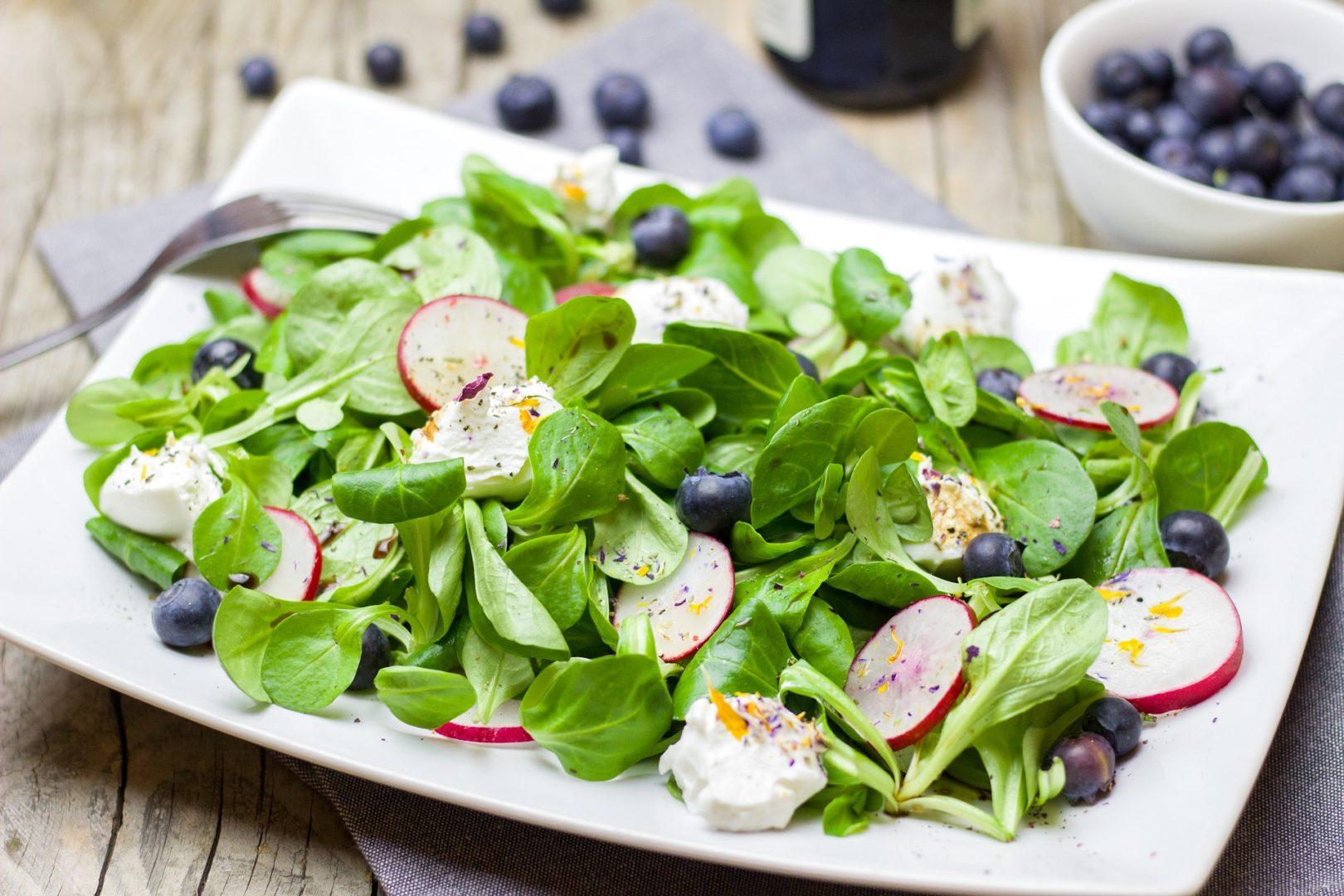 Blaubeeren Salat