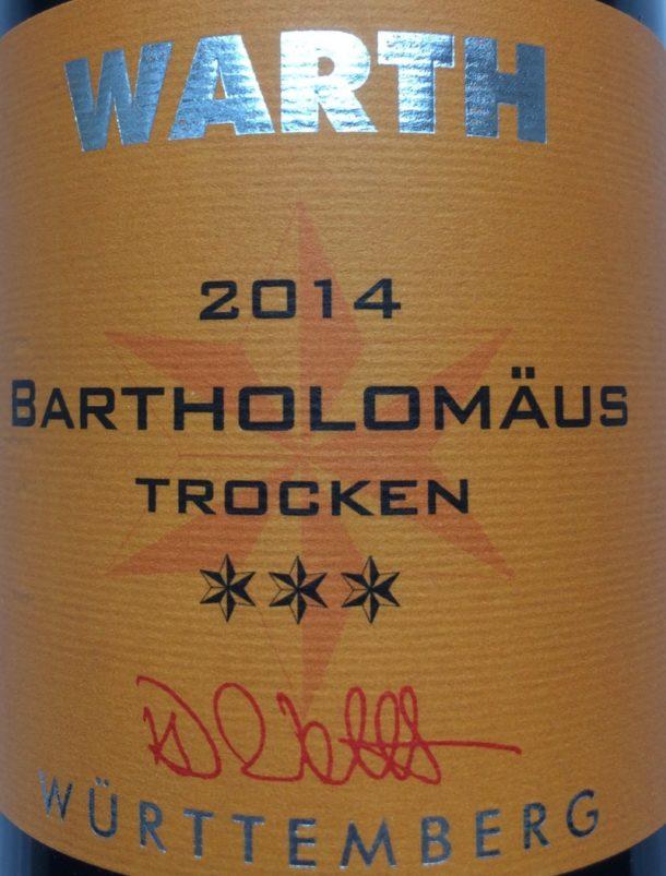 Flaschen Etikett Trollinger 2014 (Custom)