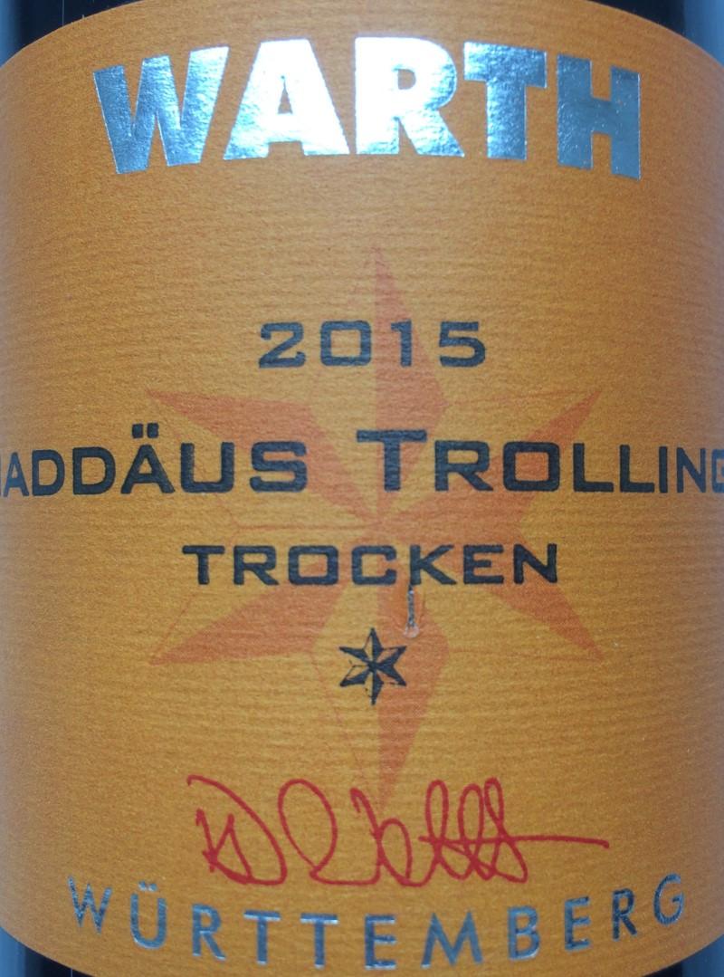 Flaschen Etikett Trollinger 2015 (Custom)