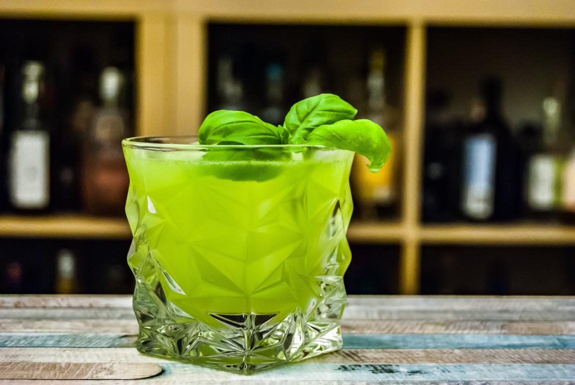 Rezept für Gin Basil Smash