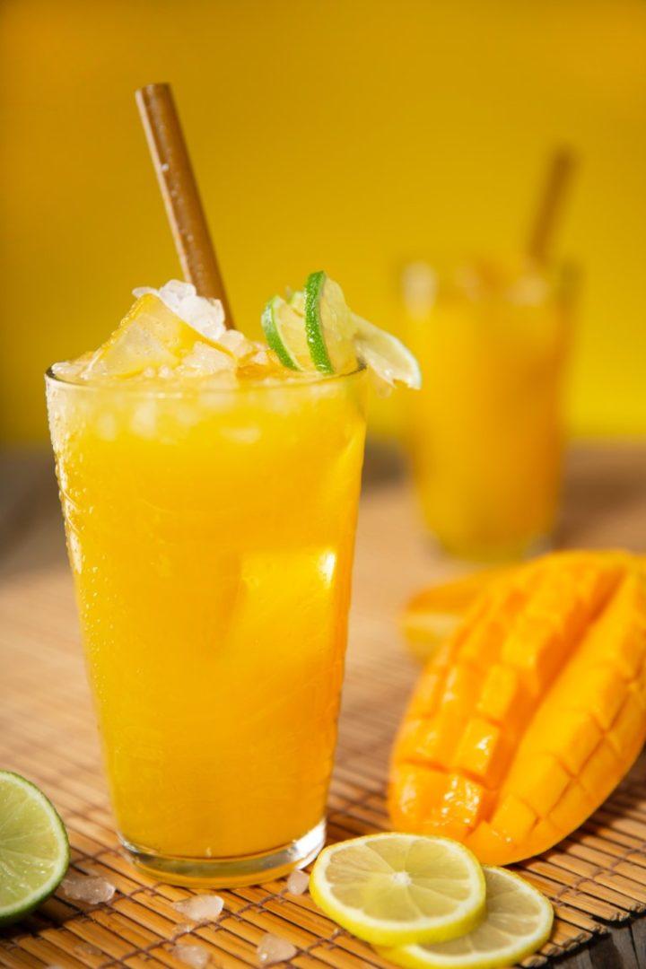 Iced Mango-Ginger-Gin