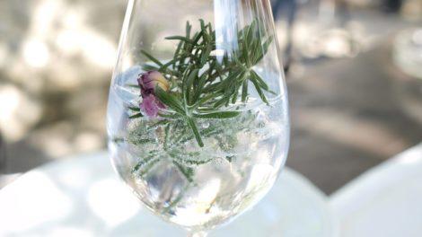 Alkoholfreier Gin in einem Glas